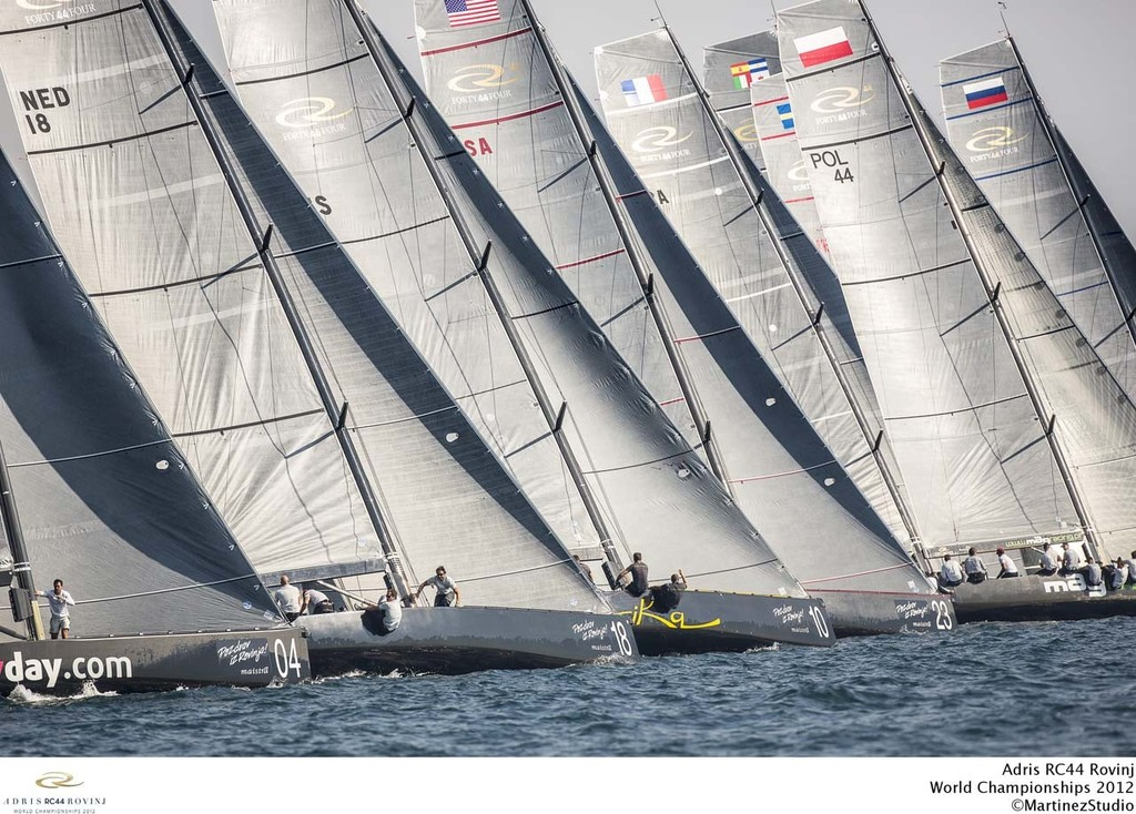 Adris RC44 World Championships 2012: Fleet shot  © RC44 Class/MartinezStudio.es