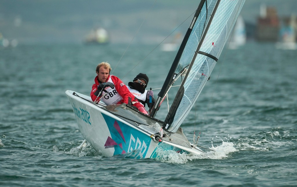 Alexandra Rickham and Niki Birrell (GBR), competing today (01.09.2012), in the Two-Person Keelboat (Skud) event in The London 2012 Paralympic Sailing Competition. © onEdition http://www.onEdition.com