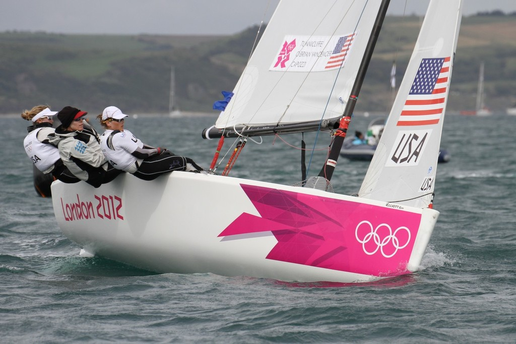 July 30, 2012 Weymouth, England - Womens Match Racing - Anna Tunnicliffe (USA) - photo © Richard Gladwell www.photosport.co.nz