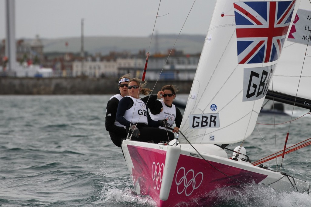 Lucy MacGregor (GBR)in action during the London 2012 Olympic Sailing Competition © Richard Gladwell www.photosport.co.nz