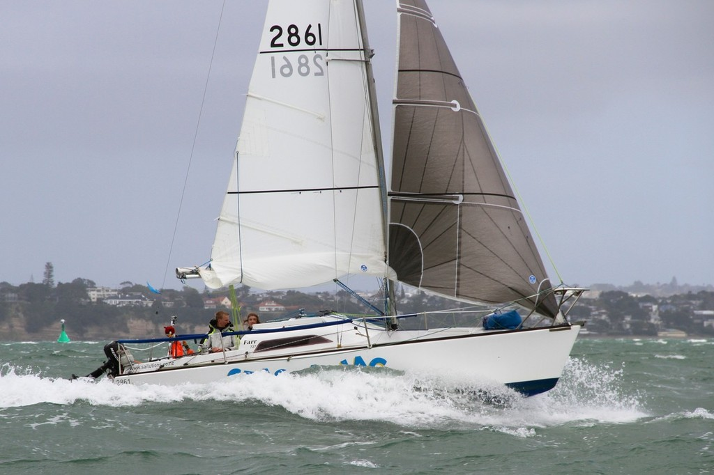 2012 Coastal Classic Start -Farr 727 Laura Dekker and Edwin deLaat © Richard Gladwell www.photosport.co.nz