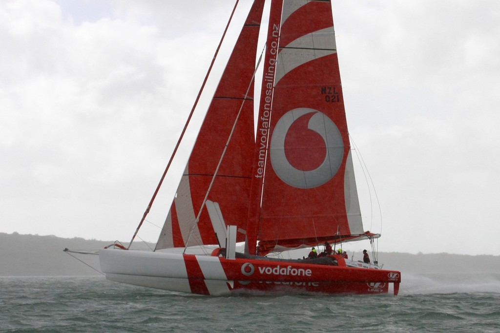 2012 Coastal Classic Start - TeamVodafone Sailing © Richard Gladwell www.photosport.co.nz