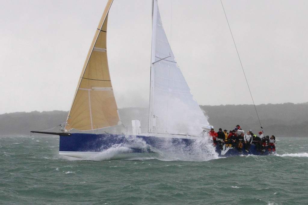 2012 Coastal Classic Start - V5 (David Nathan) sailing at 22kts © Richard Gladwell www.photosport.co.nz