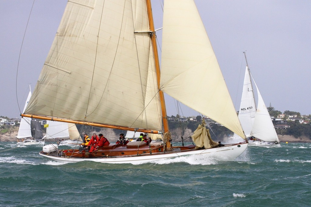 2012 Coastal Classic Start -Classic yacht Tawera © Richard Gladwell www.photosport.co.nz