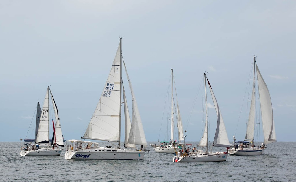 Raja Muda Selangor International Regatta 2012 - Class 5 start. That's more like it! © Guy Nowell / RMSIR