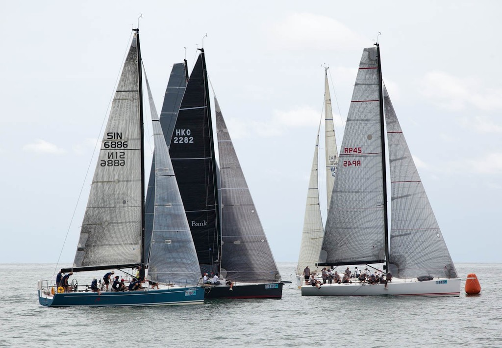 Raja Muda Selangor International Regatta 2012 - Class 1 start. Utarid squeezed out at the pin end © Guy Nowell / RMSIR