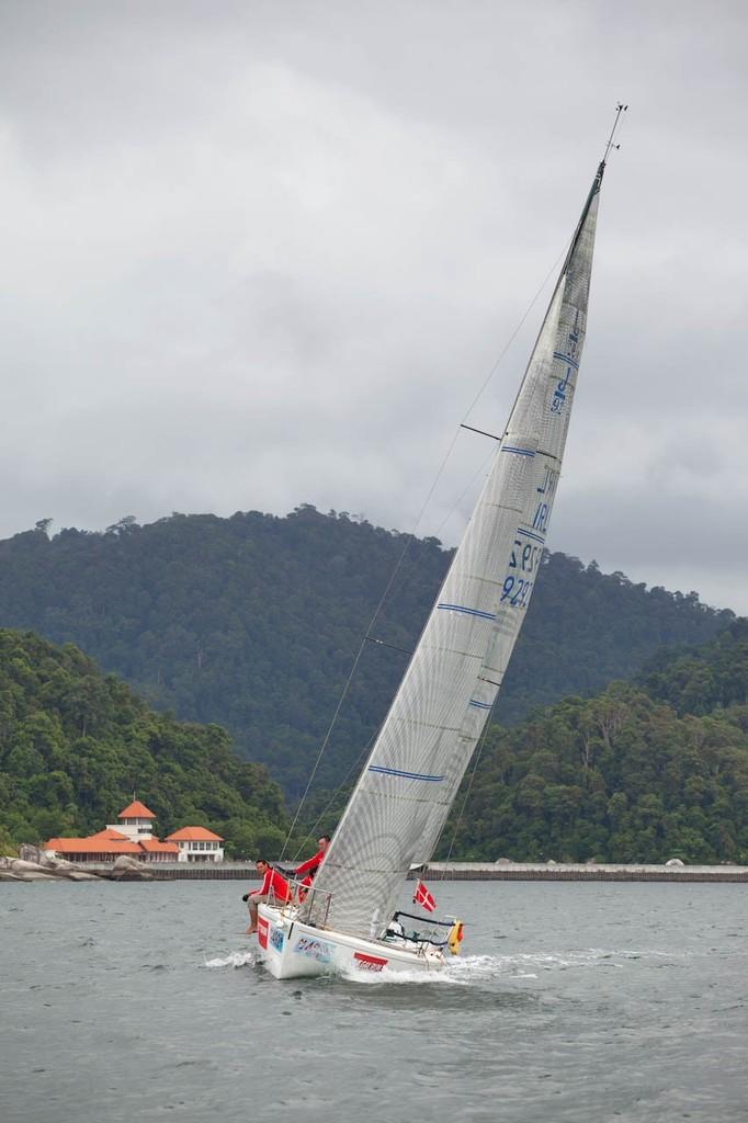 Raja Muda Selangor International Regatta 2012 - NiJinsky powers past the never-actually-opened marina near Pular Pangkor © Guy Nowell / RMSIR