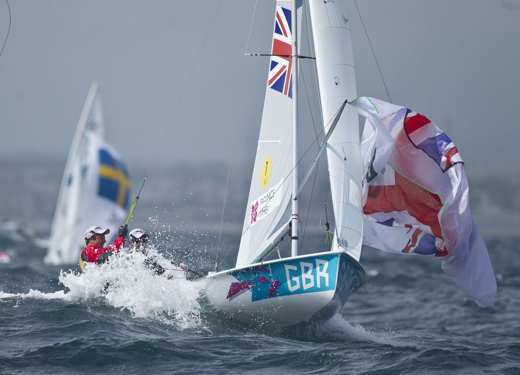 Luke Patience and Stuart Bithell (GBR) took Silver in the Men's 470 event in London Olympics 2012. © onEdition http://www.onEdition.com