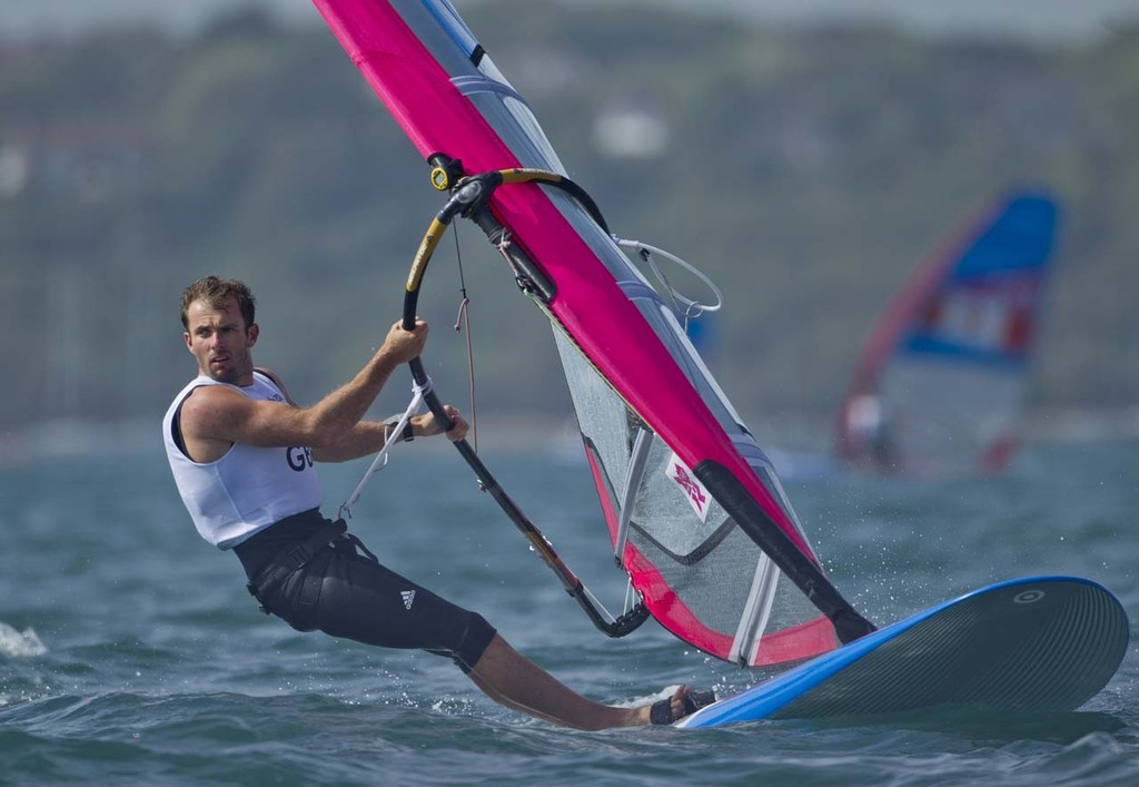 Nick Dempsey (GBR) took Silver in the RS:X class at the London Olympics 2012. © onEdition http://www.onEdition.com