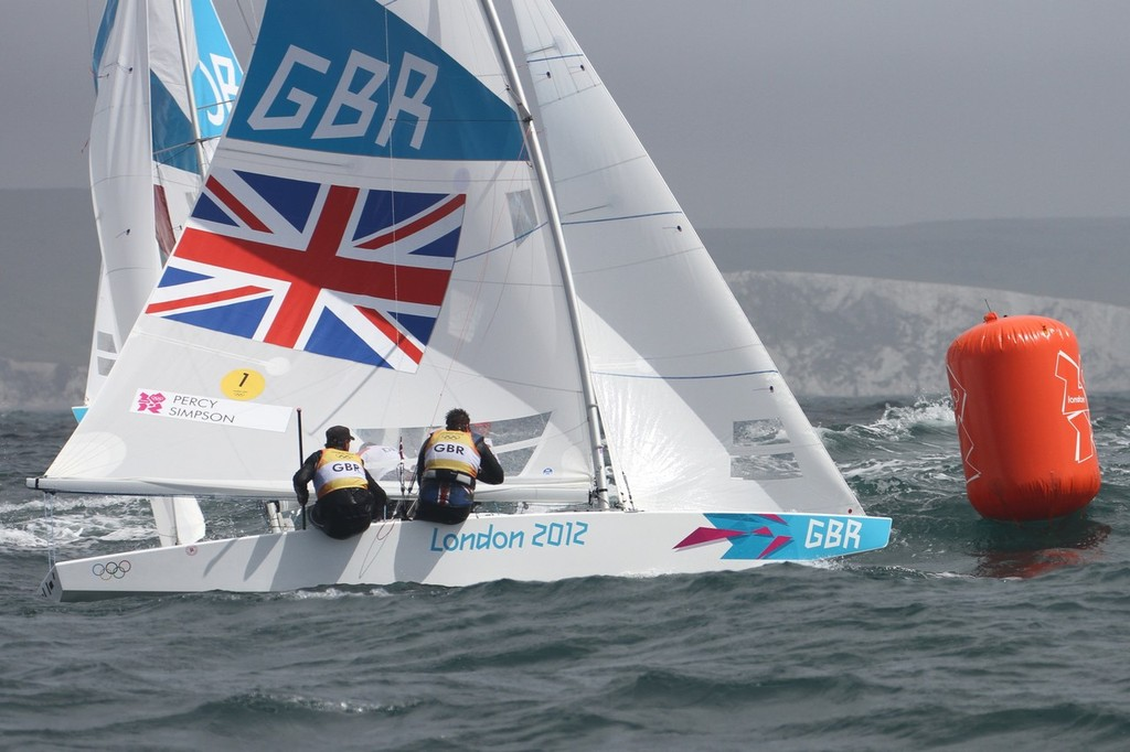 August 1, 2012 - Weymouth, England - Star Iain Percey and Andrew Simpson (GBR) © Richard Gladwell www.photosport.co.nz