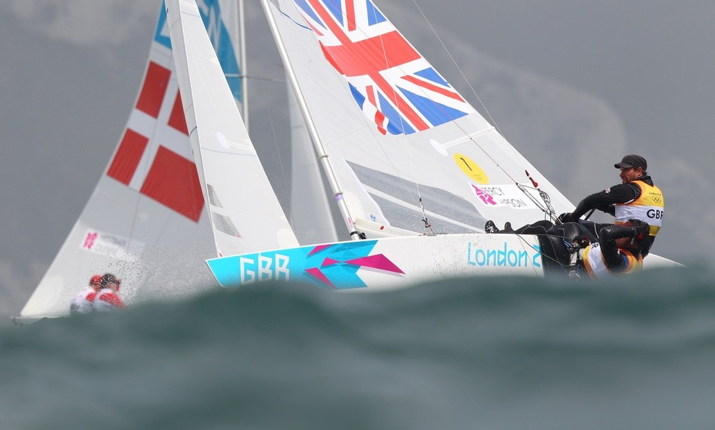 Team GBR is currently leading the Star class going into the medal race © Richard Langdon /Ocean Images http://www.oceanimages.co.uk