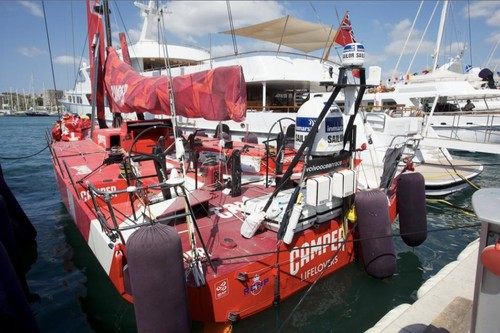 Camper with Emirates Team New Zealand arrives in to Palma, Spain, after the end of the Volvo Ocean Race 2011-12. © Camper