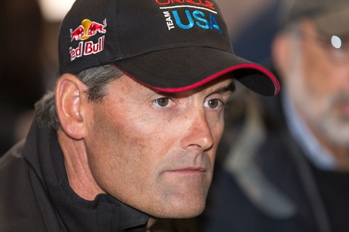Russell Coutts at today's Skippers presentation to the media © ACEA - Photo Gilles Martin-Raget http://photo.americascup.com/