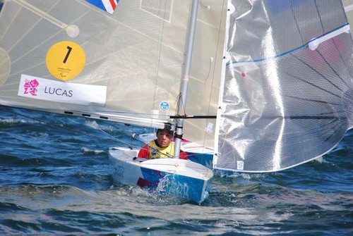 Helen Lucas (GBR), Gold medalist  24mR event 2012 Paralympics © David Staley - IFDS