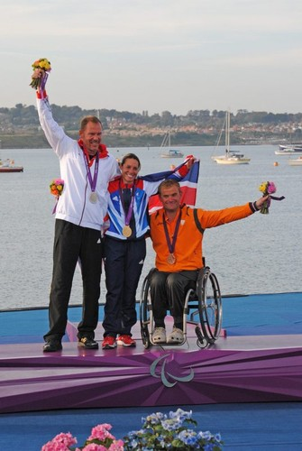 2.4mtR medalists - 2012 Paralympics at Portland © David Staley - IFDS