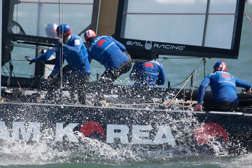 Team Korea were probably the standout performer in the America's Cup World Series  San Francisco 2012  © ACEA - Photo Gilles Martin-Raget http://photo.americascup.com/