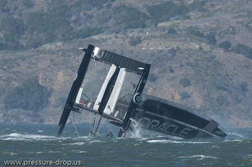 Oracle Racing UC 72 Demise - Oracle Team USA capsize AC72 Oct 16, 2012 © Erik Simonson www.pressure-drop.us http://www.pressure-drop.us