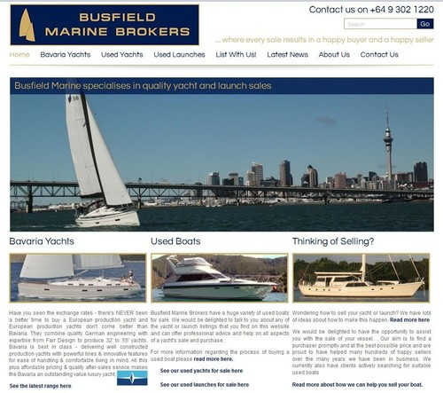 Busfield Marine have launched a new website  www.busfieldmarine.co.nz © SW