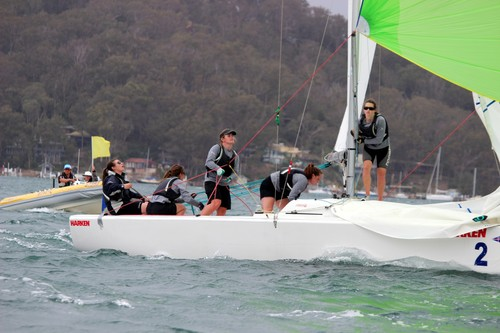 Claudia Pierce and the all female crew from RNZYS - 20th Harken International Youth Match Racing Championships © Damian Devine