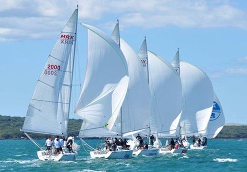 The MRX fleet in action in the New Zealand Keel Boat Championships 2012 - 2013 Pacific Keel Boat Challenge © Tom Macky
