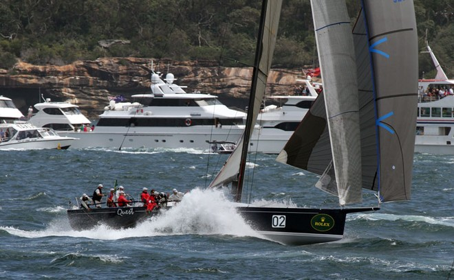 Quest heading out - Rolex Sydney to Hobart ©  Alex McKinnon Photography http://www.alexmckinnonphotography.com