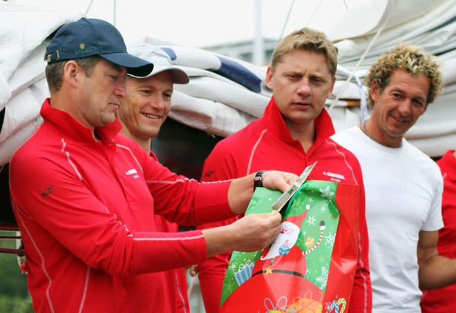 Lithuania's Simonas Steponavicius examined each and every gift and definitely understood their purpose. - Rolex Sydney Hobart Yacht Race ©  John Curnow