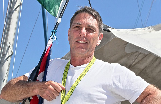 Andrew Saies, owner and skipper of Two True - Rolex Sydney Hobart Yacht Race 2102 © Crosbie Lorimer http://www.crosbielorimer.com