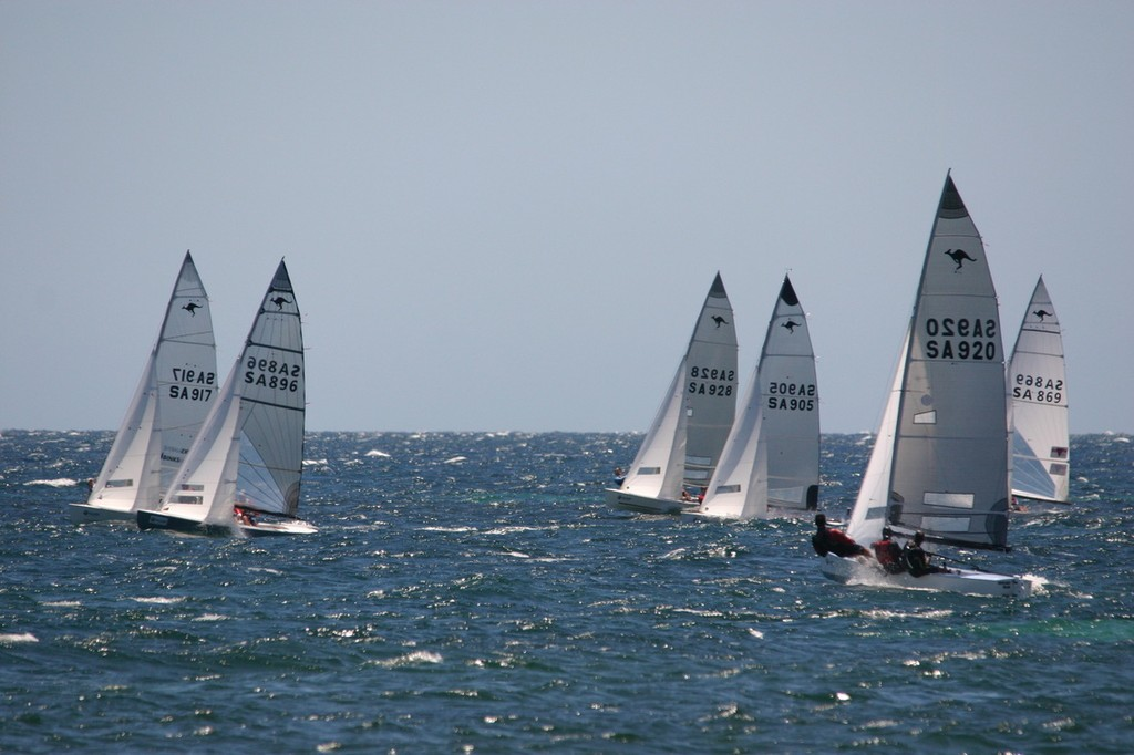 Sharpies beating up the upwind leg - 70th Australian Sharpie Nationals © Harry Fisher