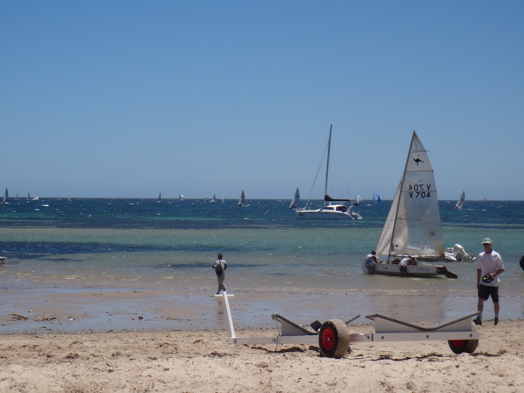 The conditions from the beach at Brighton & Seacliff Yacht Club - 70th Australian Sharpie Nationals © Harry Fisher