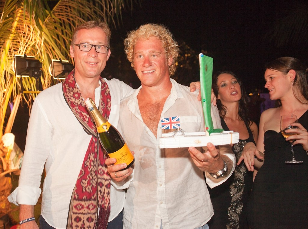 Asia Superyacht Rendezvous  2012. Worthy winner, Callisto, receives the prize from Bas Nederpelt Feadship (left). © Guy Nowell http://www.guynowell.com