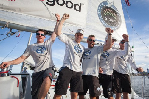 Ian Williams and crew at the 2012 Monsoon Cup © Gareth Cooke - Subzero Images http://www.subzeroimages.com