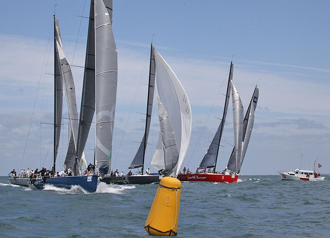 The fabled downwind start got an outing again in Race Seven. - TP52 Southern Cross Cup ©  John Curnow