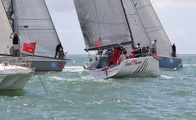 B Start with Local Mocean heading down the line - Festival of Sails ©  John Curnow