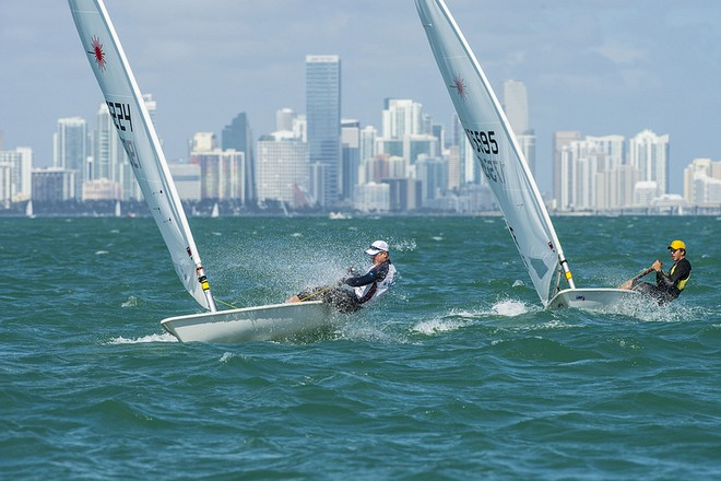 Tight racing at ISAF Sailing World Cup Miami 2013 © US Sailing http://www.ussailing.org