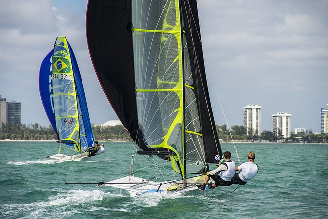 Crew enjoys wonderful racing conditions at ISAF Sailing World Cup Miami 2013 © US Sailing http://www.ussailing.org