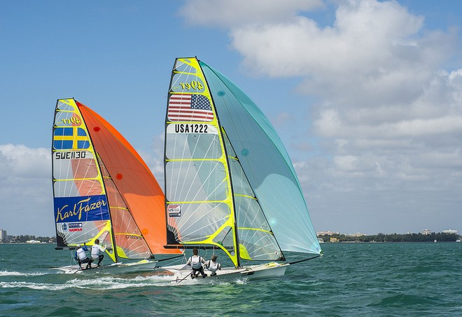 Competition is spectacular at ISAF Sailing World Cup Miami 2013 © US Sailing http://www.ussailing.org