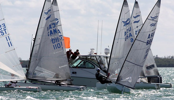 Medal race start - 2013 ISAF Sailing World Cup Miami © Ants Vainsalu