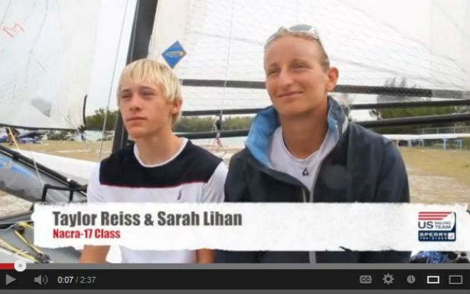 Taylor Reiss and Sarah Lihan at ISAF Sailing World Cup Miami 2013 © US Sailing http://www.ussailing.org