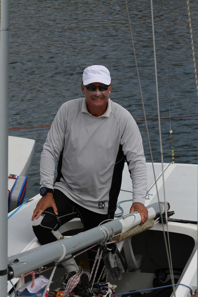 John Bertrand - happy with the state of play. - Prochoice Safety Gear Etchells Nationals © Ron Jensen