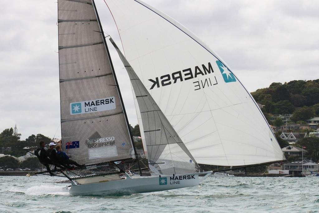 Maersk - 18ft skiff Nationals - Day 1, January 19, 2013 © Richard Gladwell www.photosport.co.nz