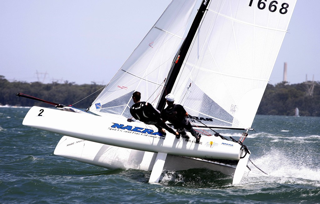 Adam Beattie and Jamie Leitner won Nacra Infusion honours ahead of the Worlds - 2013 Australian F18 National Championships © Mark Rothfield