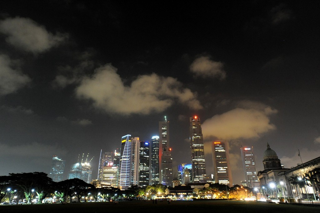 Act 2 2013 - Singapore - Skyline<br /> <br /> Singapore, Host Venue for Act 2, night skyline &copy; Lloyd Images http://lloydimagesgallery.photoshelter.com/