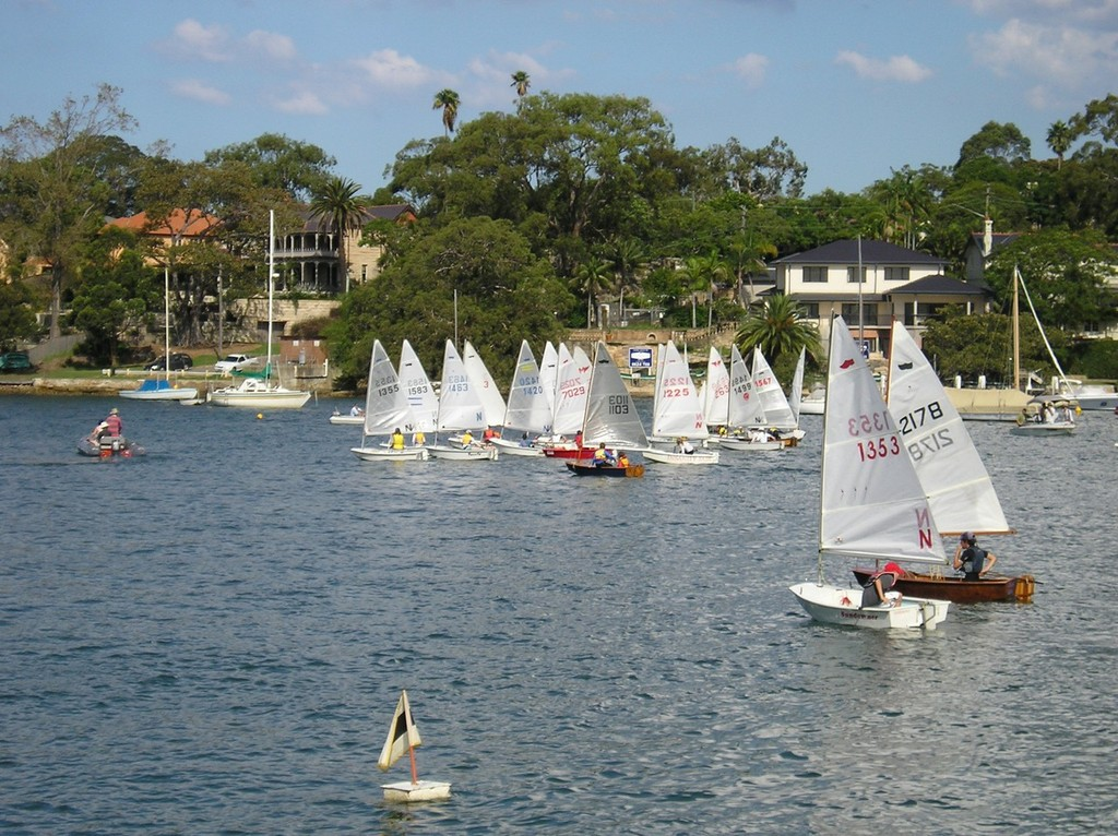 Start of Club Race - Southern NSW Sabot Zone Championship © Andrew Glassock