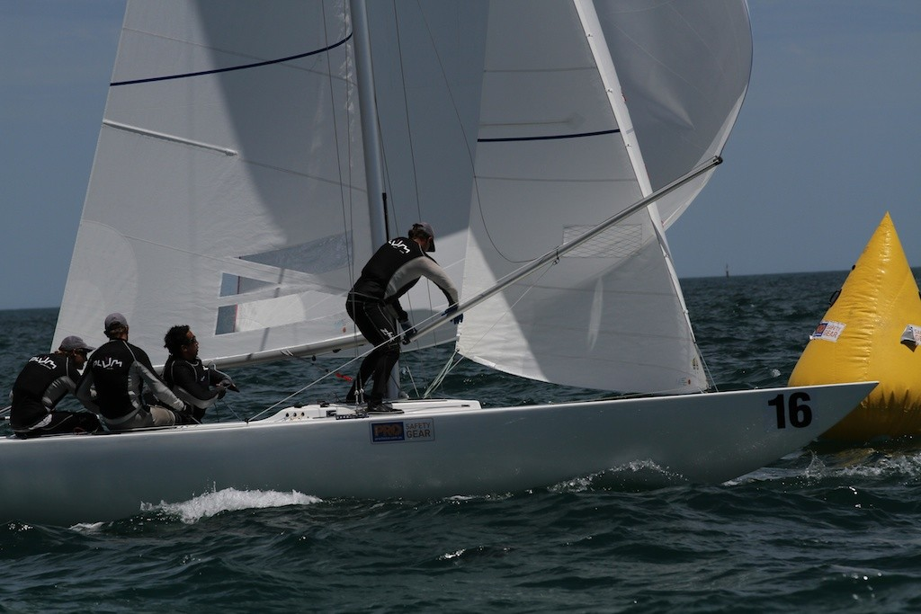 Chilli Plum sets up for another fast run - Prochoice Safety Gear Etchells Nationals © Ron Jensen