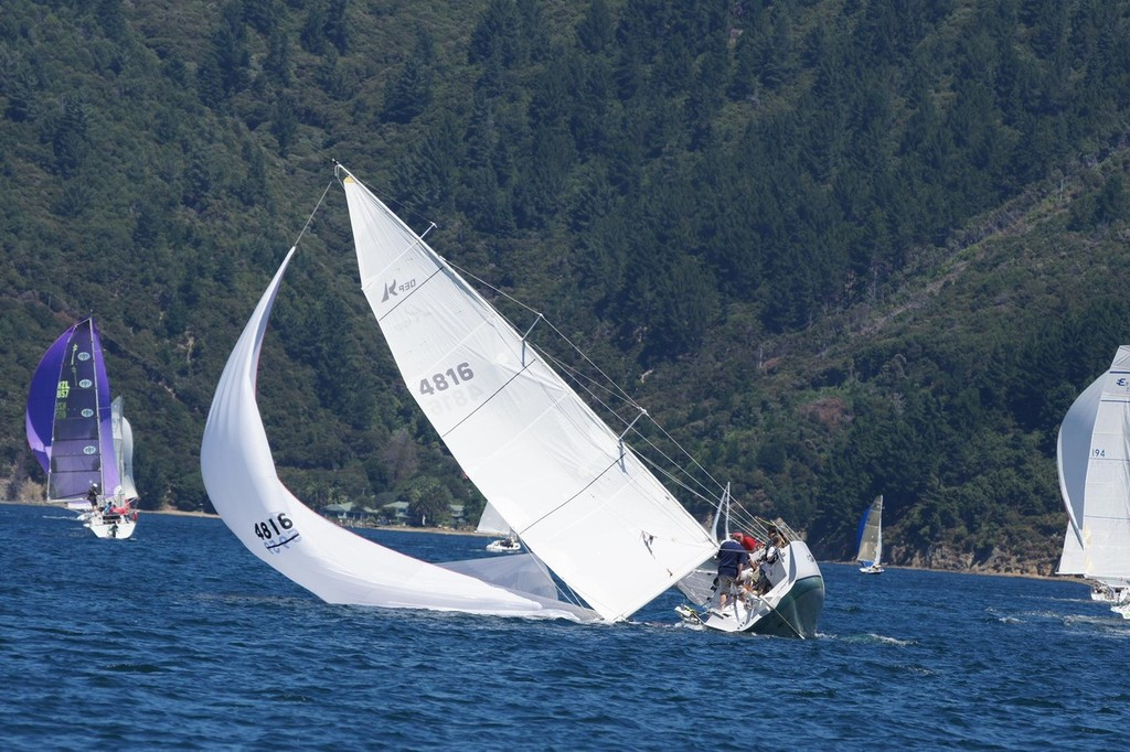 Ross 930 Sling Shot - Racing in the Marlborough Sounds © Don Gurteen