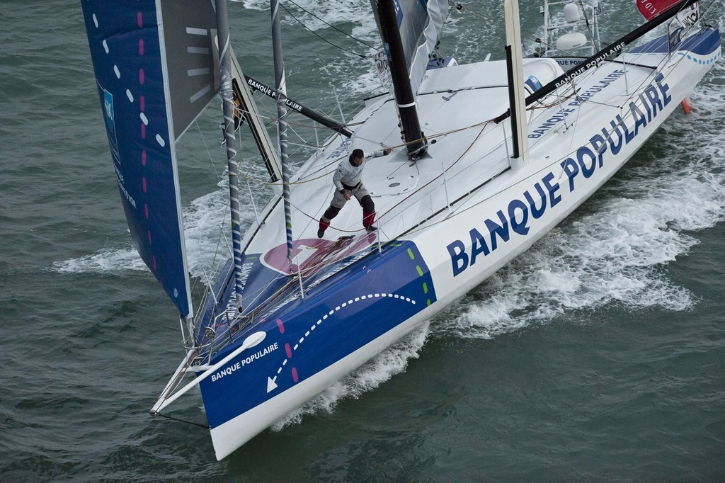Banque Populaire finishes in second place in the 2013 Vendee Globe in 78 days 05hrs 33mins 52se - 2ND PLACE © Olivier Blanchet www.oceanracing.org