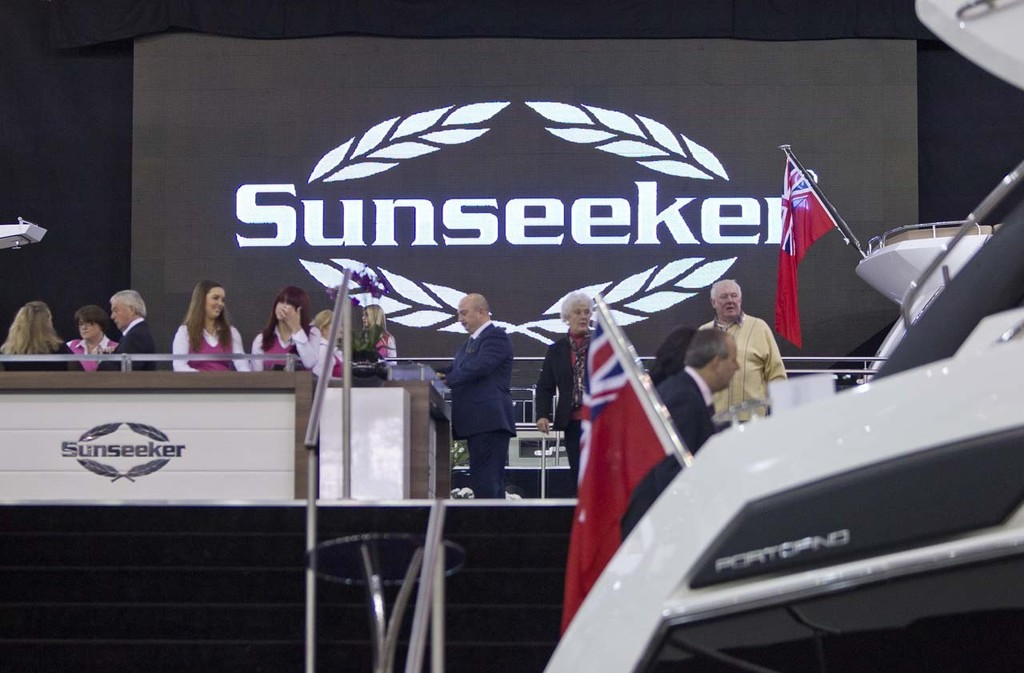 The Sunseeker stand at the Tullett Prebon London Boat Show, ExCeL, London. © onEdition http://www.onEdition.com