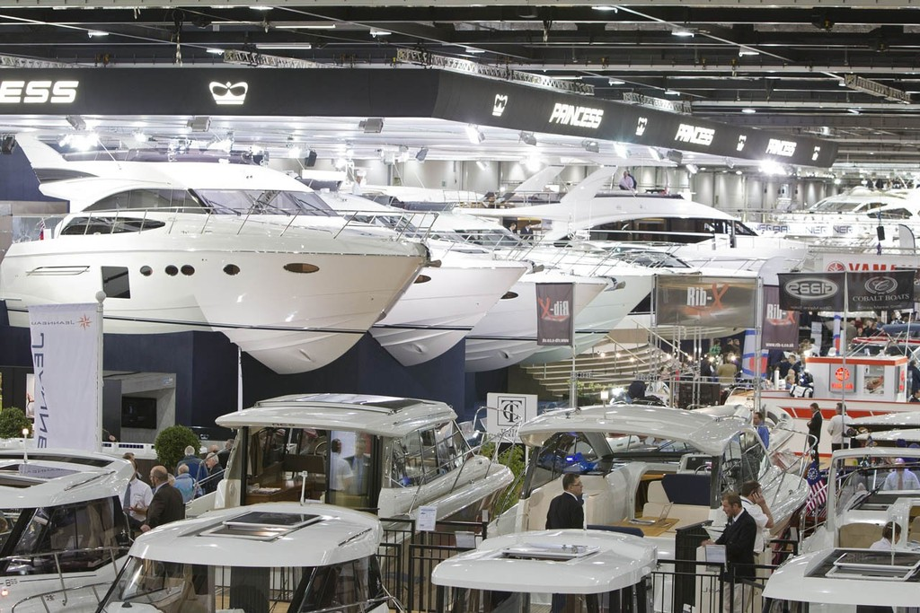 The Princess Yachts stand at the Tullett Prebon London Boat Show, ExCeL, London. © onEdition http://www.onEdition.com