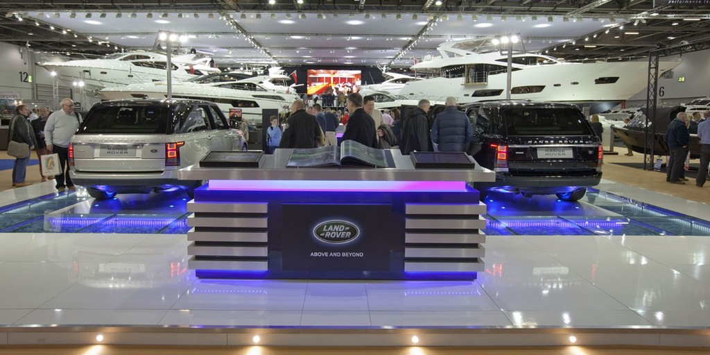 The Land Rover stall, at the Tullett Prebon London Boat Show, ExCeL, London. © onEdition http://www.onEdition.com