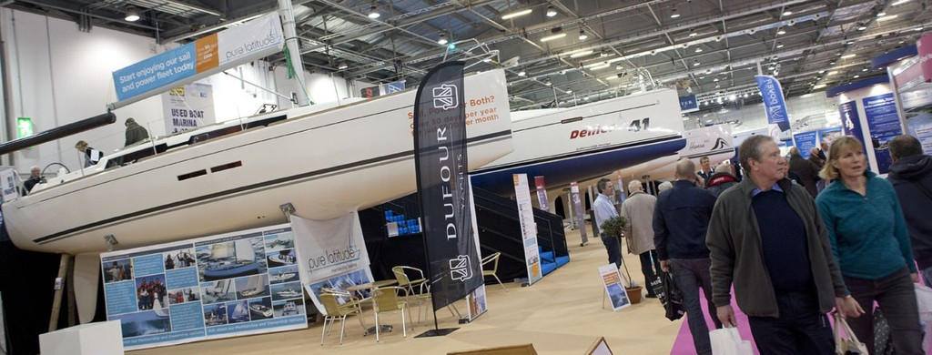 The Dufour Yachts stall, at the Tullett Prebon London Boat Show, ExCeL, London. © onEdition http://www.onEdition.com